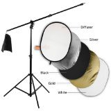 Convertible Boom Stand - Fotodiox Pro Ultra Reflector Kit - 32x48