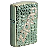 Zippo Alligator Armor Chameleon High Polish Chrome Pocket Lighter