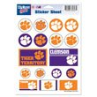 NCAA Clemson University Vinyl Sticker Sheet, 5