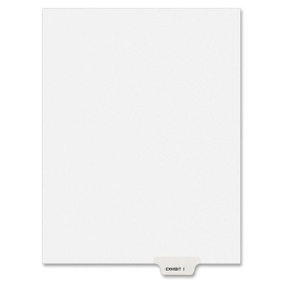 Avery Products - Avery - Preprinted Legal Bottom Tab Dividers, Exhibit I, Letter, 25/Pack - Sold As 1 Pack - Rip ProofTM reinforced tabs printed on both sides with exhibit letter. - Easy-to-read Helvetica bold type stands out. - Unpunched for flexibility