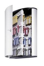 Durable 195523 72-Key Brushed Aluminum Key Cabinet - 12amp;quot; x 4.75amp;quot; x 15.75amp;quot; - Aluminum - Security Lock - Aluminum