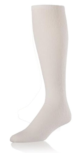 XL Baseball/Softball Cushion Sanitary (Under Stirrup) White Socks Multisport Socks by Twin City