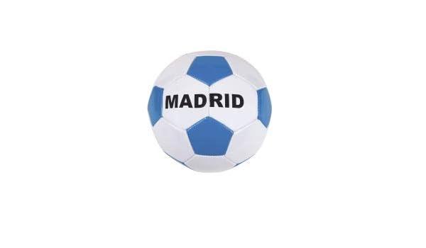 HUSL Balón fútbol Madrid Talla 5 (Grande) Blanca y Azul: Amazon.es ...
