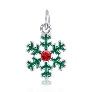 18K gilded Bell Christmas LAMPWORK fit European Charm Bracelet pendant #319