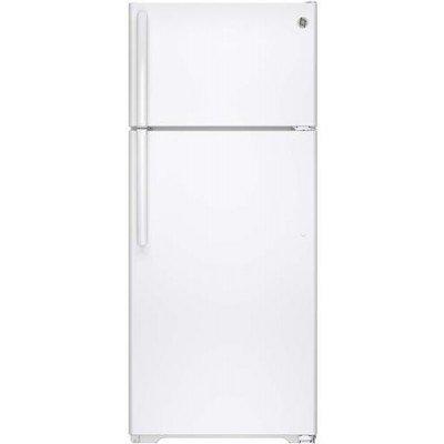 Ge GIDDS-632138 Energy Star 18.1 cu. ft. Top Freezer Refrigerator With Icemaker, White, Reversible Door Swing