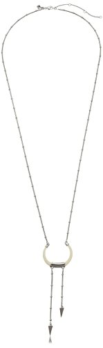 Rebecca Minkoff Rhodium with Ivory Long Double Tusk Neckl...