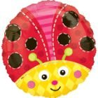 Anagram 18 Inch Circle Foil Balloon - Cute Lady Bug