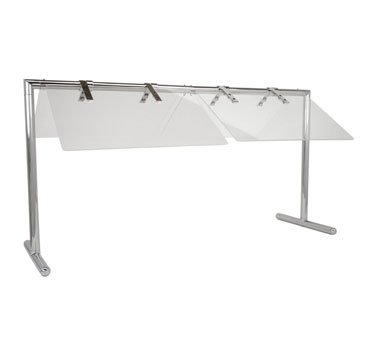 Buffet Enhancements Portable 50 Inch Folding Sneeze Guard, Stainless Steel Finish by Buffet Enhancements
