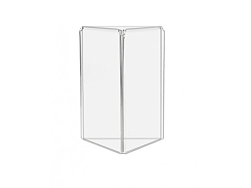 Marketing Holders 3 Sided Acrylic Table Tent Frame Advertisement Display Stand (60, 5