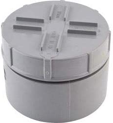 Polypipe Access Cap 4//110mm Black Rainwater Fittings SA63B