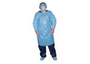 Dukal 303W Impervious Gown, Non-Sterile, White (10 Bags of 5) (Pack of 50)