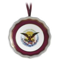- CIVIL WAR PRESIDENT ABE ABRAHAM LINCOLN FINE CHINA PORCELAIN PLATE CHRITMAS TREE ORNAMENT