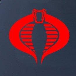 Cobra GI Joe Vinyl Decal Sticker|Cars Trucks Vans Walls Laptops Cups|RED|5.5 In|KCD787