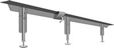 Powerlift Plus Queen or King size; 2 center supports; PowerLift extensions adjust 7'' - 18''; clamp assembly by Leggett Platt