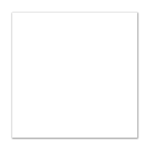 Slightly Translucent White Cast Acrylic Sheet 11.850 x 11.850 Inches x 0.118 Thick with Clear Film Masking ()