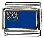 Nevada State Flag Italian Charm Bracelet Link (Nevada State Charm)