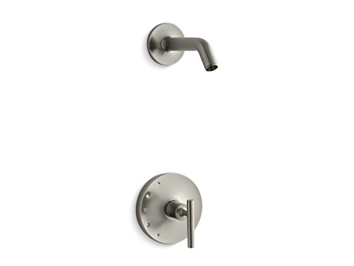 Kohler K-TLS14422-4-BN Purist Rite-Temp Shower Valve Trim with Lever Handle, Less showerhead Vibrant Brushed Nickel