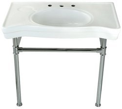 - Kingston Brass VPB13681 Stainless Steel Sink Base in Polished Chrome Finish