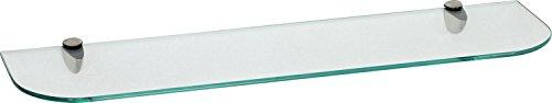 IB-Style - Wandregal - Glasregal | 88 Variationen | 400 x 150 x 6 mm klar + Halterungen Classico Edelstahloptik