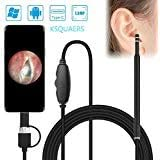 USB Otoscope-Ear Scope Camera, Upgraded 4.3mm Diameter Visual Ear Camera HD Ear Endoscope with Earwax Cleaning Tool and…