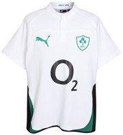 Puma Ireland Away Cotton Short Sleeve Rugby Shirt 09 10