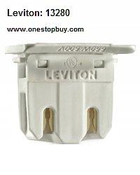Leviton 13280 T8 Medium Bi Pin Fluorescent Lampholder ( Package of 50) by Leviton (Image #1)