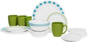 corelle black and white dishes - 9