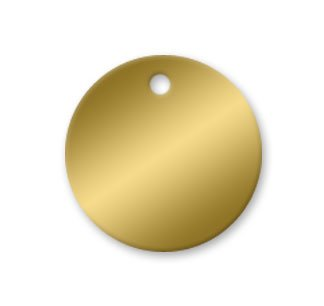 Brass Tags - 2 inch Circle Pk/25