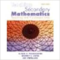 Book Teaching Secondary Mathematics: Techniques and Enrichment Units by Posamentier, Alfred S., Smith, Beverly S., Stepelman, Jay S [Pearson, 2009] 8th Edition (Paperback)