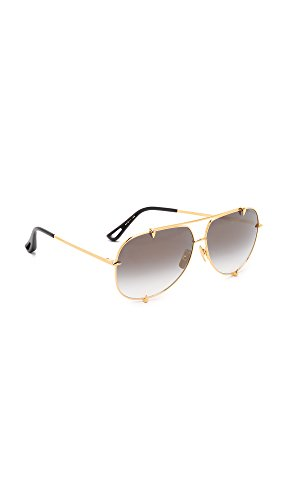 DITA Women's Talon Sunglasses, Gold/Gold, One - Sunglasses Gold Dita