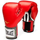 Everlast Boxing Gloves Training Style 16 Oz Grappling MMA Leather Red Fighting
