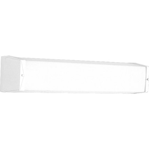 Progress Lighting P7129-30EB Utility Bath Bracket with Ribbed Acrylic Diffuser and Knockout for G.C.O, White