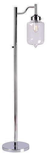Kenroy Home 32408CH Casey Floor Lamp, Chrome Finish, 57
