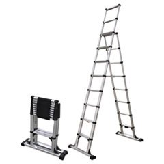 Telesteps Telescopic A-Frame Ladder, 14 Ft, 375Lb, 8-Step, Aluminum ()