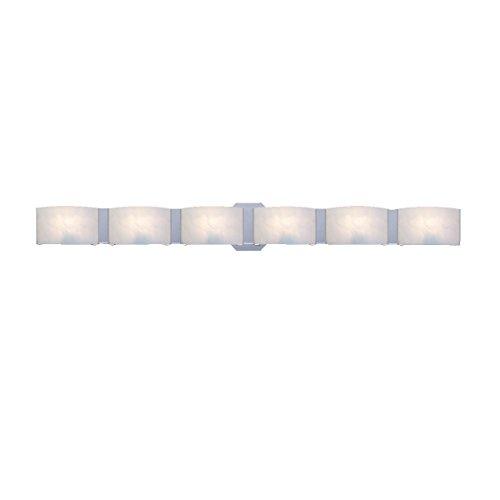 Functional 6 Light Bathroom Fixture (Eurofase BR-6DAK-05 Dakota 6-Light Bathbar)