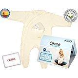 Pijama Bebé AntiCólico de Algodón 100% Orgánico Con Pie - Perfecto para Aliviar Cólicos,