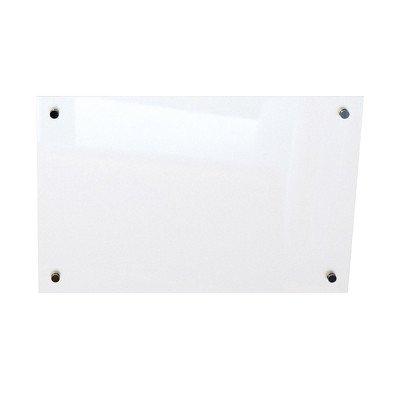 - Enlighten Wall Mounted Glass Board Size: 3' x 4', Surface Finish: Gloss White