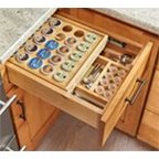 Premium Wood Tiered K-Cup Drawer Inserts, For 18'' Wide Cabinets