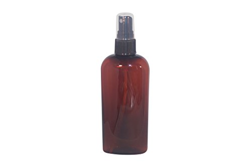 WM (Bulk Pack of 24) 4 Oz Amber Refillable Empty Plastic Bottle w/Fine Mist Spray - Mfg. USA. Used in Travel, DIY Oils, Soap, Shampoo, Lotion, Cosmetics, Aromatherapy.