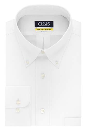 Chaps Mens Dress Shirt Regular Fit Stretch Buttondown Collar Solid