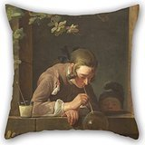 [Beautifulseason Oil Painting Jean Siméon Chardin - Soap Bubbles Pillowcover 20 X 20 Inches / 50 By 50 Cm For Relatives,car,wife,teens Girls,car Seat,girls With Double] (Tigger Costume Makeup)