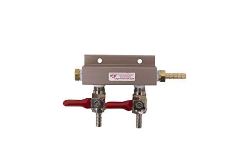 (2-way Air Co2 Distributor Manifold 1/4 inch by Kegconnection)