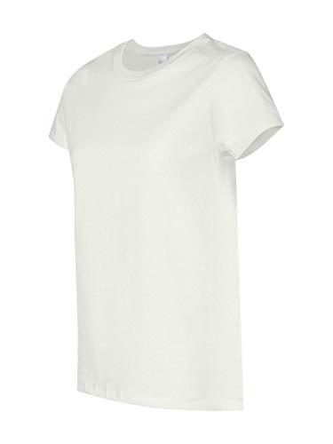Coverseamed White Neck T-shirt - Hanes Women's T-Shirt - Small - White
