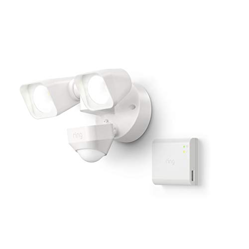 Introducing Ring Smart Lighting -  Floodlight, Wired - White (Starter Kit)