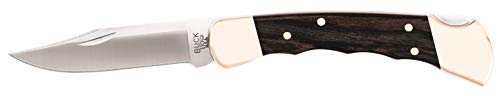 Buck Knives 110 Folding Hunter Knife with Finger Grooves and Leather...