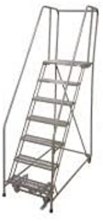product image for Cotterman 1507R1824A3E30B4W4C1P6 - Rolling Ladder Steel 100In. H. Gray
