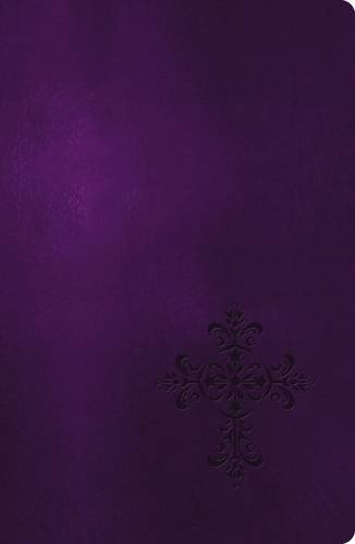 NKJV, End-of-Verse Reference Bible, Giant Print, Personal Size, Imitation Leather, Purple, Red Letter Edition (Essential)