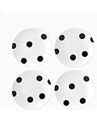 Kate Spade New York All In Good Taste Deco Dot Appetizer Plates, Set of 4