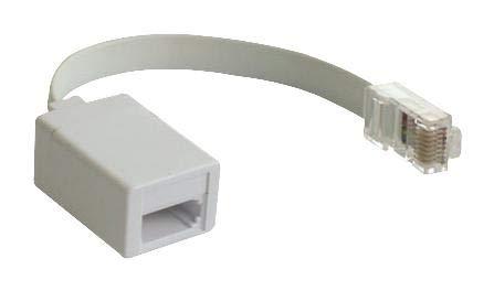 PSG90339 - Telephone Modular Cable, Crimp Socket, White, (Pack of 20) (PSG90339)
