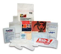 4224990 PT# 17100 Precaution Kit UniversalFOR Bodily Fluid Clean Up Ea Made by Safetec Of America Inc